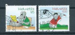 2005 Switzerland Complete Set Comics Used/gebruikt/oblitere - Used Stamps