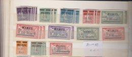 Memel Kleine Verzameling Tussen Michel-nr 84 En 119 - Memel (1920-1924)