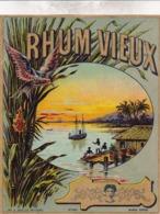 TRES BELLE ETIQUETTE RHUM VIEUX / BAELDE POITIERS - Rhum