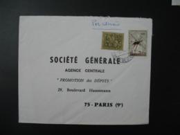 Enveloppe  Portugal     Pour La Sté Générale Agence Centrale Promotion Des Dépôtsen France  Bd Haussmann Paris - 1910-... République