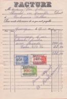 1947: Facture De ## Arthur BERTIEAUX, QUAREGNON ##  à ## Mr. VAN MOLLE – CHAMELOT, Rue Moisville, QUAREGNON ## - Belgium