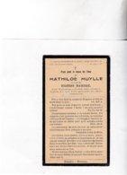 MATHILDE MUYLLE °WIJTSCHATE 1910 +1935 (E.BARREZ) - Images Religieuses