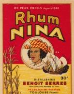 TRES BELLE ETIQUETTE RHUM NINA /  / BENOIT SERRES TOULOUSE - Rhum