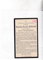 MATHILDE BERGHE °WIJTSCHATE 1874 +WARNETON 1933 (H.VAN HAELEWYN) - Images Religieuses