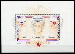 14637 NOUVELLE CALEDONIE BF9** 180F Bicentenaire De La Révolution Française    1989    TB/TTB - Blocks & Kleinbögen