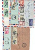 TP - MARCOPHILIE - LAOS  - 5 ENVELOPPES 1956 A 1960 - Laos