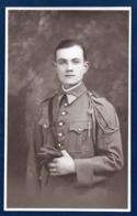Carte-photo. Soldat Musicien Du 91ème Régiment D' Infanterie. Mézières. Studio Buéno - Régiments