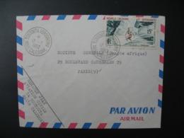 Enveloppe  1962 Nouvelle Calédonie La Tontouta Aérodrome Aviation Civile Pour Sté Générale En France Bd Haussmann Paris - Briefe U. Dokumente
