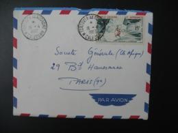 Enveloppe  1962 Nouvelle Calédonie La Tontouta Aérodrome Pour Sté Générale En France Bd Haussmann Paris - Briefe U. Dokumente