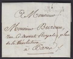 """FRANCE DATE 23/04/1803 """" 70 CHALONS SUR-SAONE """" VERS PARIS (DE) DC-4045 - Marcofilie (Brieven)"""
