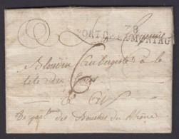 """FRANCE 17/12/1794 """" 78 PORT DE LA MONTAGNE """" (TOULON) (DE) DC-4048 - Marcophilie (Lettres)"""