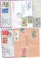 TP - MARCOPHILIE - LAOS  - 5 ENVELOPPES RECOMMANDEES 1958 A1965 - TB - Laos