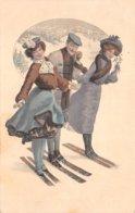 Illustrateur - N°60728 - Ser. 514 N°2 - Deux Femmes Et Un Homme Faisant Du Ski - Illustrators & Photographers