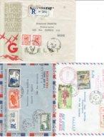 TP - MARCOPHILIE - LAOS  - 3 ENVELOPPES RECOMMANDEES 1951 A1961 - TB - Laos