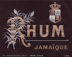 ETIQUETTE RHUM JAMAIQUE / HABERER PLOUVIEZ ET DOUIN / PARIS - Rhum