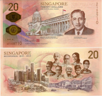 SINGAPORE       20 Dollars       Comm.       P-New       2019       UNC - Singapore