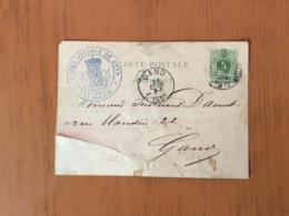 Cavalerie Garde Civique Gand Carte Convocation En1887```` - Interi Postali