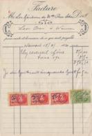 1930: Facture De ## COL Robert, Menuisier à WASMES ##  à ## Les Héritiers De Melle. Rosa LETOR à WASMES ## - Belgium