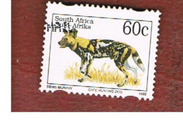 SUD AFRICA (SOUTH AFRICA) - SG 915 - 1997   ENDANGERED ANIMALS: LYCAON PICTUS (NAME IN ENGLISH LANGUAGE)  - USED - Sud Africa (1961-...)