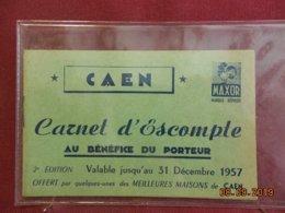 Carnet D'Escompte - Caen - Valable Jusqu'au 31 Décembre 1957 - Publicité