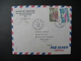 Enveloppe  Polynésie Française  Tahiti  1969 Banque De L'Indochine    Pour Sté Générale En France Bd Haussmann Paris - Briefe U. Dokumente