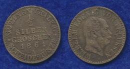 Preußen 1/2 Sgr. 1861A Wilhelm Ag900 - [ 1] …-1871: Altdeutschland