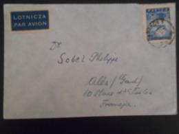 Pologne Lettre De Krakow 1947 Pour Ales - Airmail