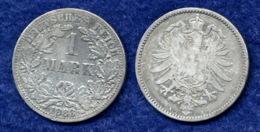 Deutsches Reich 1 Mark 1883A Kleiner Reichsadler Ag900 - 1 Mark
