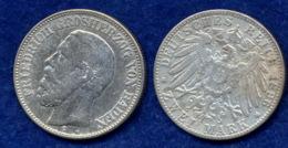 Baden 2 Mark 1896 Friedrich I. Ag900 - 2, 3 & 5 Mark Silber