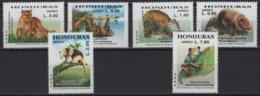 Honduras (2004) Yv. Av. 1181/86  /  Wild Cat - Frog - Fauna - Vögel