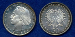 Polen 50 Zl. 1972 Chopin Ag750 - Pologne