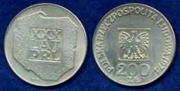 Polen 200 Zl. 1974 Landkarte Ag625 - Polen