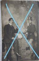 Photo ABL MUSIQUE MILITAIRE Epée Pre 1914 5ème Régiment De Ligne ANTWERPEN 1908-10 Armée Guerre Leger - Guerre, Militaire