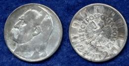 Polen 2 Zl. 1934 Pilsudski Ag750 - Polen