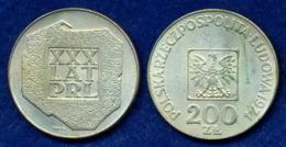 Polen 200 Zl. 1974 Landkarte Ag625 - Polonia