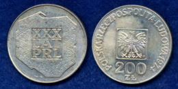 Polen 200 Zl. 1974 30 Jahre VR Polen Ag625 - Pologne