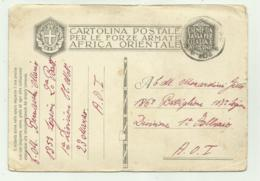 CARTOLINA FORZE ARMATE AFRICA ORIENTALE A.O.I. 1937 FG - Weltkrieg 1939-45