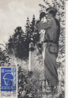 MILITARIA, ROMANIAN BORDER GUARD'S DAY, CM, MAXICARD, CARTES MAXIMUM, 1983, ROMANIA - Militaria