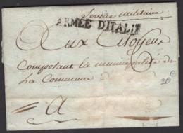 Pli De 1794 De NICE Port Du Avec Marque Linéaire ARMEE D'ITALIE > ??? - Marques D'armée (avant 1900)