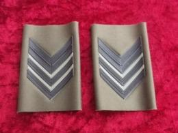Coppia Gradi Tubolari Mimetica Verde NATO Caporalmaggiore E.I. Anni '80 Nuovi - Esercito