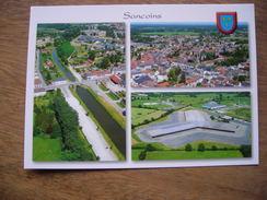 CPM Sancoins Canal, Centre Du Village, Grivelles - Sancoins