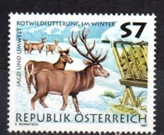 Sello  Nº 2045  Austria - Animalez De Caza