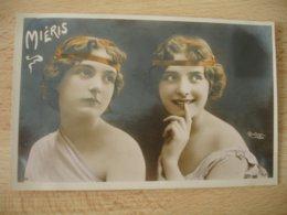 Portrait Femme Mieris E Par Reutlinger Photographe Artiste - Donne