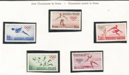 Cob 367à371  Congo Belge Belgisch Congo  Jeux Olympiques De Rome ** - Congo Belge