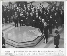 BELGIQUE   Albert Lebrun Exposition De L'eau à LIEGE  1939   Photo Studio HAVAS Cachet Au Dos   18x13cm - Personnes Identifiées