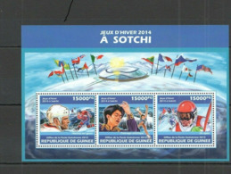 Olympische Spelen  2014 , Guinea - Blok Postfris - Winter 2014: Sochi
