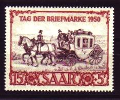Saarland Mi. 291 Tag Der Briefmarke 1950 **/MNH - Sarre