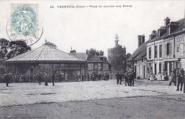 27 - Eure - VERNEUIL Sur AVRE - Place Du Marché Aux Veaux - Verneuil-sur-Avre