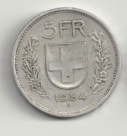 5 Franken 1954 Schweiz.Silber. - Schweiz