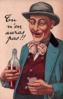 CPA - HUMOUR - Thème ALCOOLISME - ILLUSTRATION - Edition Artaud & Nozais - Humour